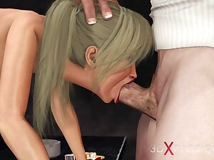 Interrogator plays relative to a hot university girl in the metropolitan jurisdiction department